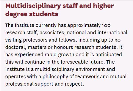 AIHI multidisciplinary international team